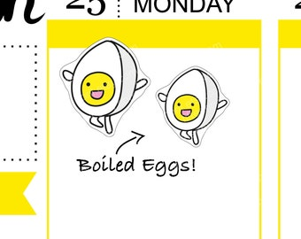 Boiled Eggs stickers -J640