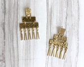 Aindrea Earrings || Brass Statement