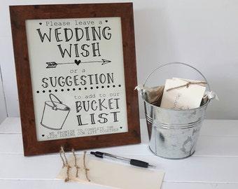 Wedding Bucket List,Alternative Guest Book