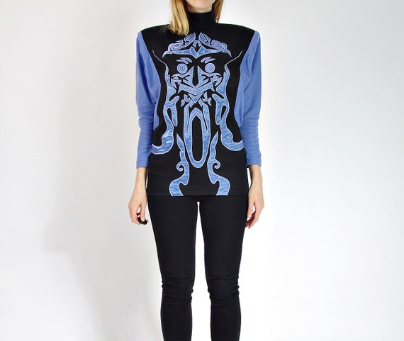 80s Korii Joko Avant Garde Japanese Designer Boxy Shoulders Top / Size 38 - M