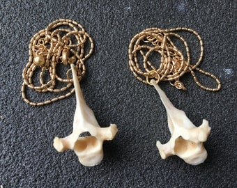 Simple Gold Vertebrae Necklace