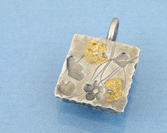 Keum boo sun fine gold silver pendant