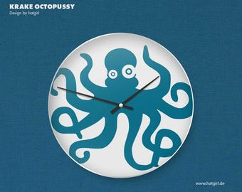 Children's clock wall clock OCTOPUSSY