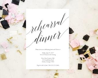 2017 SALE: Rehearsal Dinner Invitation Template, Rehearsal Dinner Invitation Instant Download, Printable Rehearsal Dinner Invitations, 5x7