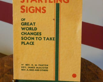 "Sixth Edition Pamphlet ""Startling Signs of Great World Changes Soon to Take Place"" (1934)"