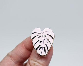 Monstera Leaf Lapel Pin | Perfect Pink