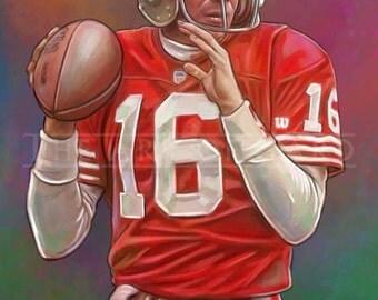 Joe Montana 11X17 Art Print