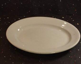 Large White Ironstone Platter Vintage Pankhurst England