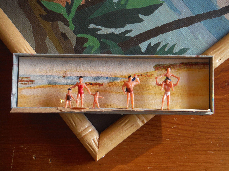 Vintage walter merten miniaturplastiken bagnanti spiaggia scena box 960 vintage tedesco - Bagno in miniatura ...