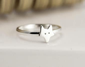 Fox Ring - Sterling Silver Ring - Fox Jewellery - Fox Gift