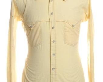 Vintage 1970's Brutus Yellow Shirt L - www.brickvintage.com