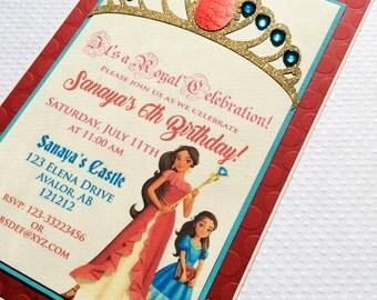 Elena of Avalor Invitation-Disney Princess Elena Invite-Elena of Avalor Birthday Invitation-Princess Elena Invitations -Princess Invitations