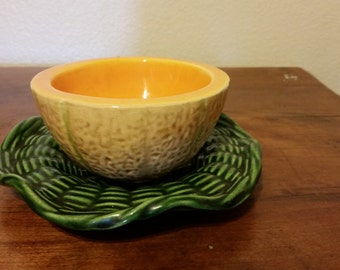 Vintage Cantaloupe Shaped Bowl