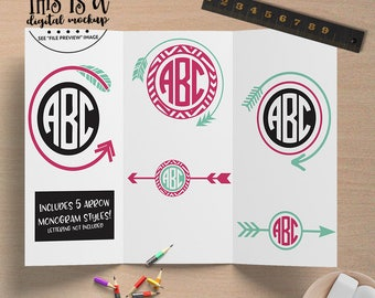 Tribal svg, Arrow Monogram svg, Tribal Arrow svg, Wedding Arrow Monogram, Tribal Cut File, eps, dxf, png Cut Files for Silhouette for Cricut