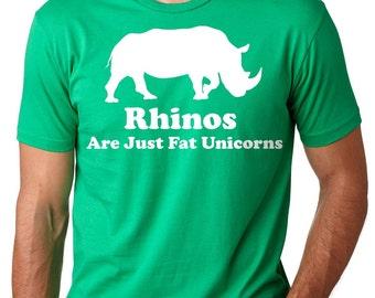 Unicorn T-Shirt Funny Rhino Unicorn Tee Shirt