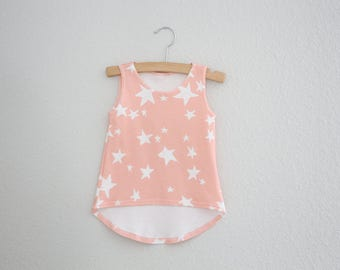 Girls Tank, Girls Clothing, Organic Clothing, Baby Clothing, Star Tank, Organic Tank Top, Toddler Tank, Kids Apparel and Baby Apparel