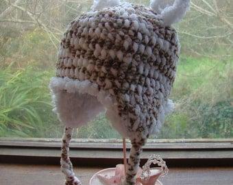 Snuggle Me Teddybear Hat - baby sizes