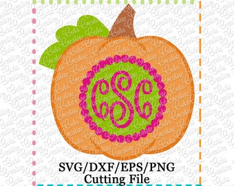 EXCLUSIVE SVG EPS dxf Pumpkin Monogram Cutting File, pumpkin cut file, thanksgiving svg, autumn svg, fall svg, pumpkin monogram svg cut file