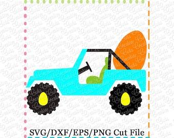 Easter Jeep SVG Cutting File, Easter Egg svg, Easter Egg cut file, easter egg svg cut file, jeep egg svg cut file