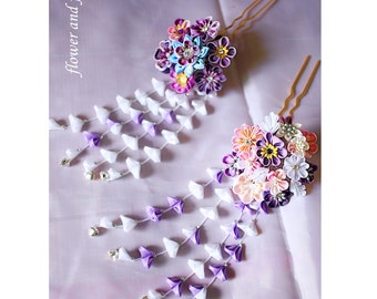 Purple wedding Hair Accessories-bridal hair stick-bridal hair pin, wedding hair pin, bridal hair flower, wedding Headpiece
