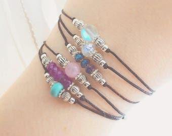 Gemstone Bracelet - Best Friend Gift - Bohemian Jewelry - Beaded Bracelet - Boho Jewelry - Chakra Bracelet - Crystal Bracelet