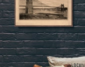 "1868 Cincinnati John A. Roebling Bridge reprint, Vintage Americana bridge reprint - 5 sizes up to 22""x28"" - home/office decor"