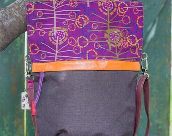 Textile woman bag-Shoulder bag-Handbag-Designer handbag-Printed handbag
