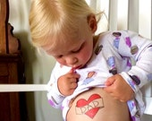 dad heart tattoo for daughter valentine gift idea valentines day gift for him valentine temporary tattoo outfit for children kids tattoos