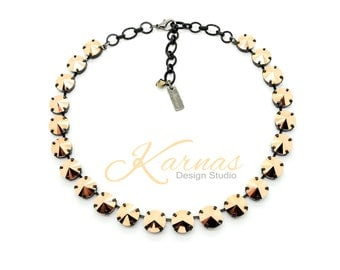 25% SALE Rose Gold 12mm Choker Made With Swarovski Crystal *Pick Your Finish *Karnas Design Studio *Free Shipping*