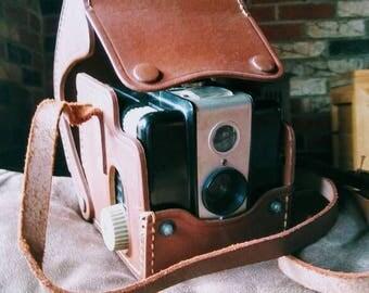 Kodak Hawkeye Brownie Flash Model 1950's Film Camera with Case