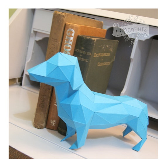 Basket Weaving Nuneaton : Lowpoly dachshund sausage dog papercraft model diy