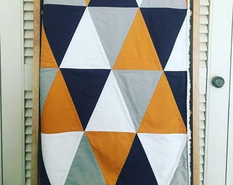Triangle Patchwork Throw with Cuddle Fleece Back