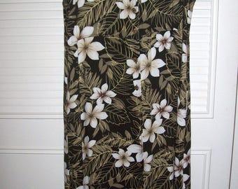 Vintage Maxi Shift Sheath Island Resort Patio Deck Dress Size Medium see details