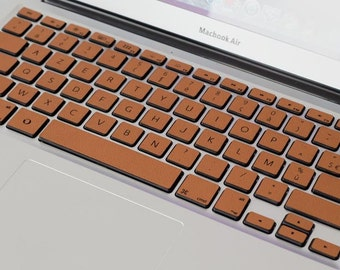 Macbook Keyboard Skins in Wood and Leather