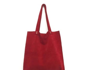 Red suede bag,Burgundy leather bag,Red leather bag,Red suede tote bag,Dark red handbag