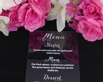 Beautiful Personalised Wedding Menu/ Personalised Menu/ Wedding Menu/Wedding table/Wedding Favour/Menu for wedding/Wedding Food Menu
