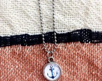 Anchor Necklace, Nautical Gifts, Beach Necklace, Nautical Necklace, Beach Gifts, Anchor Jewelry, Gifts Under 10, Anchor Gifts, Sea Necklace