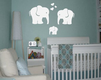 Elephant Wall Decal - Elephant Decal - Elephant Nursery Decal - Elephant Wall Art - Nursery Decal - Nursery Wall Decal