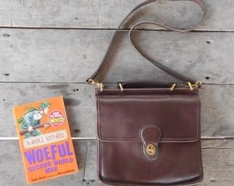 Vintage COACH Willis No.M8P-9927 / Mahogany Brown /  Leather Crossbody Bag , Messenger Bag , Purse / Medium / Authentic