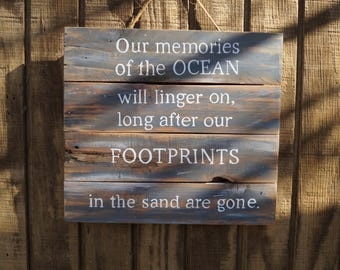 Memories Beach Sign