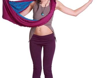 INFINITY SCARF HOOD, Burning Man clothing, boho scarf, psy trance clothing, festival scarf, hippy scarf, lace scarf, doof clothing