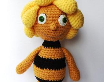 "Maya the Bee Inspired Crochet Soft Toys, 14"""
