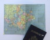 Passport holder: Vintage Africa Map