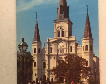 Vintage Postcard New Orleans St Louis Cathedral Louisiana Postcard  Church French Quarter
