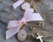 Safe pins martyrika-Evil eye martyrika- Orthodox baptism day - martirika for a girl