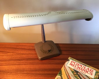 Vintage Keystone gooseneck desk lamp with fluorescent bulb - still works