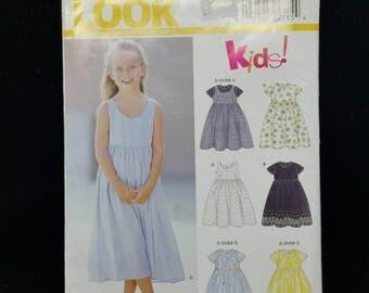 New Look Brand 6850 Pattern. Size 3 - 8. Super Cute. NEW. Sundress. Kids