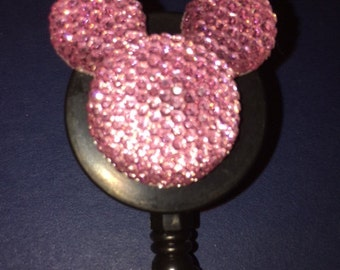 Disney© Sparkle Shine Mickey Mouse™ ~ ID Holder ~ Retractable Badge Reel ~ Belt Clip ~ Alligator Clip~ Gifts for Nurses Teachers Doctors