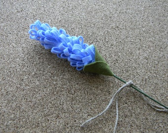 Felt Lavender Single Stem Felt Lavender Flowers Artificial Lavender Felt flower bouquet Reception decor Baby shower summer wedding