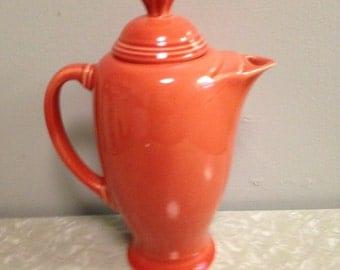 Vintage FIESTA  Coffee Pot Homer Lauglin  Persimmon  Fiestaware Mint! / Retired Color